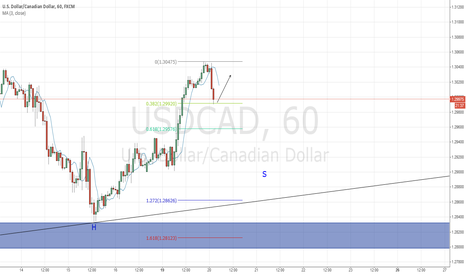 USDCAD: DiNapoli BB pattern on H1