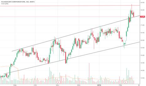 FLDM: Break-out in the wedge pattern + bull flag pattern in FLDM