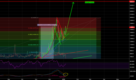 BTCUSD: Bitcoin bull flag - target level ~$25k