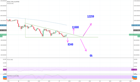 BTCUSDT: 9500 may be the bounce if so lets move to 11600