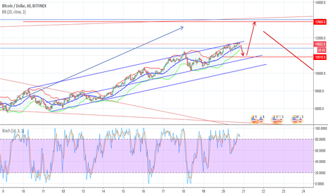 BTCUSD: Wolfe Wave confirmed - Bitcoin 13k this week
