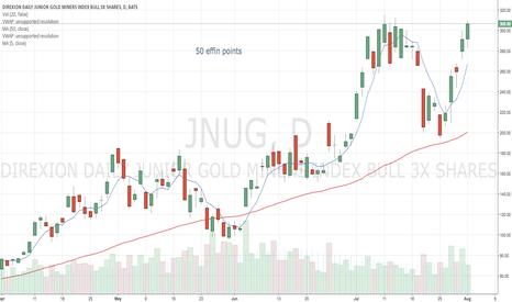JNUG: wow, 50% in 5 days for $JNUG.