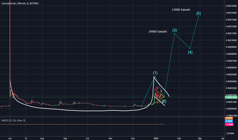CANNBTC: CANNABIS Coin/USD Cup and Handle Formation about to be completed