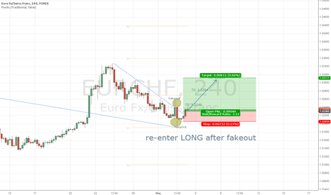 EURCHF: EUR/CHF 1h Re-enter LONG after Fakeout