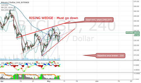 BTCUSD: Up to 245 then down to 215