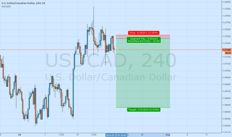 USDCAD: LOONIE Short H4
