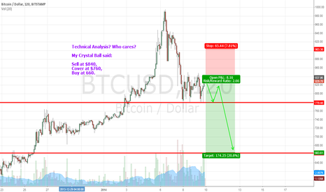 BTCUSD: Technical Analysis? Who cares! My Crystal Ball said...
