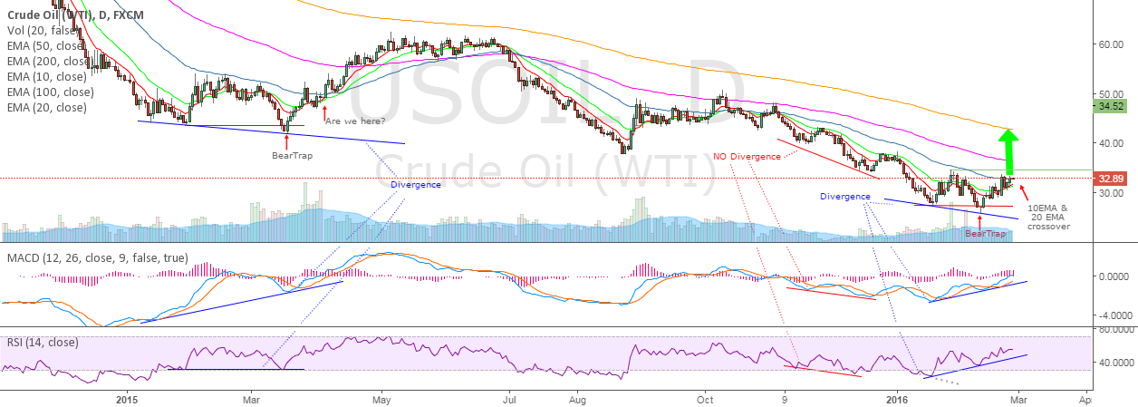 OIL - Trapped bears' short squeeze is coming above 34.52