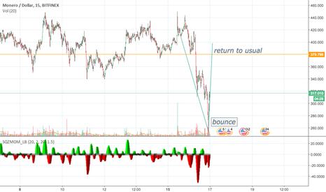 XMRUSD: Crash 1/16/18 - Monero - Return to previous