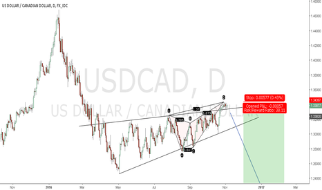 USDCAD: Bearish Flag pattern + Butterfly