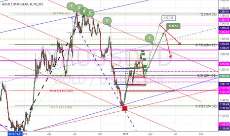XAUUSD: gold will make a new high