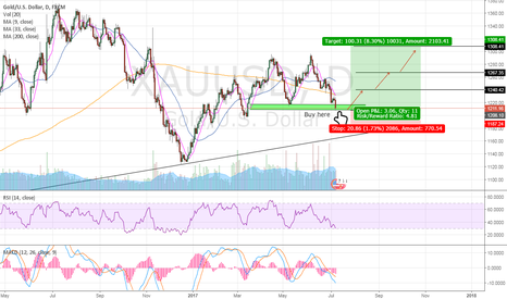 XAUUSD: Time to buy gold for a long ride to $1309