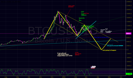BTCUSD:  My trading plan that I made on January 5th. begins to follow my