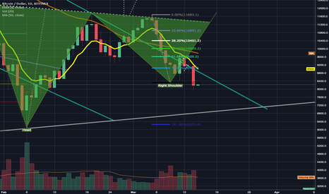 BTCUSD: My last idea warning to go short accidentally published private.