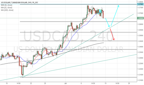 USDCAD: USDCAD SHORT-TERM SHORT, THEN POSSIBLE BOUNCE/BREAK
