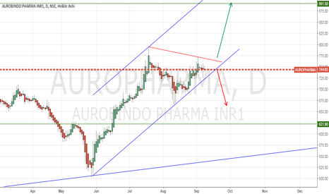 AUROPHARMA: Positional - Long. Waiting for breakout