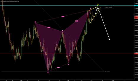 NZDUSD: NZDUSD wedge at the butterfly entry