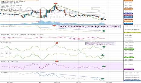 AAPL: Watch volume and price indicators