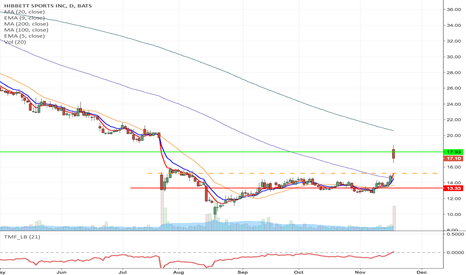 HIBB: HIBB - Fallen angel formation Long from $15.20 to $17.93