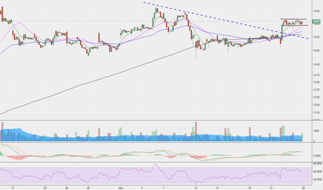 FEYE: Consolidation with bull flag.