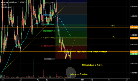 MUEBTC: MUE coin burn: Double Bottom Formation on Daily Chart