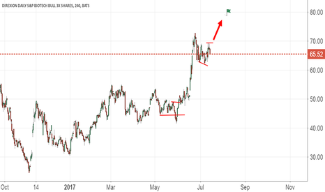 LABU: Expecting a Bullish move above 70$