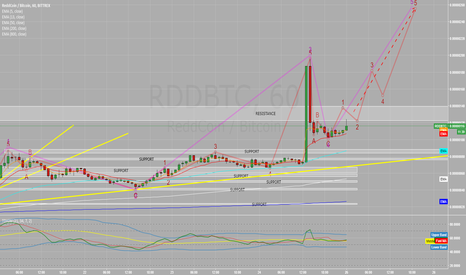 RDDBTC: REDD Coin completed wave5 and now possible Correction?