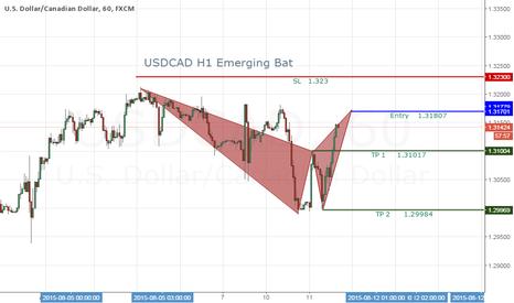 USDCAD: USDCAD H1 Emerging Bat
