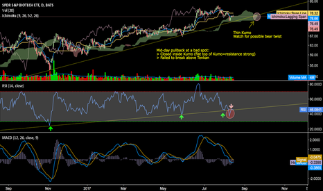 XBI: XBI (& IBB) Fails at Important spot. Refer to Chart for Comments