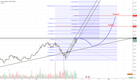 BTCUSD: BTC Bull Flag/ Double bottom $10,000?