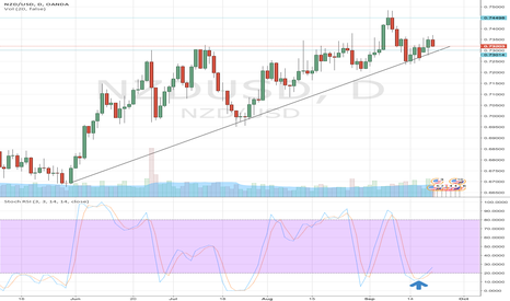 NZDUSD: Long, confermed by RBNZ, Trend and Stoch