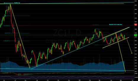 ZC1!: Corn: Bear Flag Under the Trendline