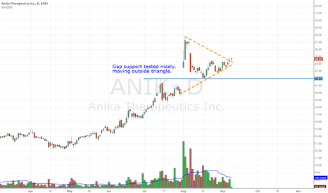 ANIK: $ANIK Gap support tested nicely. moving outside triangle.