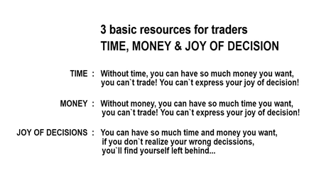 EURUSD: 3 basic resources for trader: TIME, MONEY & JOY OF DECISION