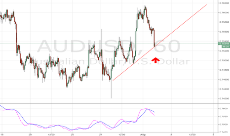 AUDUSD: AUD/USD Long 1hour Support
