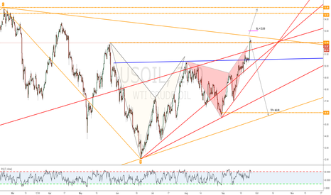 USOIL: Butterfly on a Daily triangle