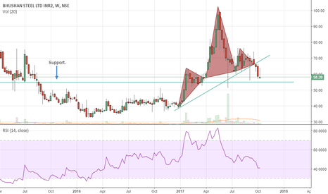 BHUSANSTL: Bhushan Steel looks bearish.