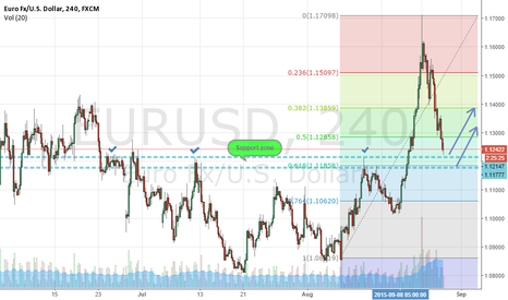EURUSD:  euro is going to test the support area
