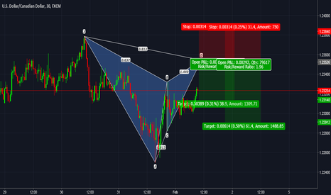 USDCAD: USDCAD: Pending Bearish Gartley