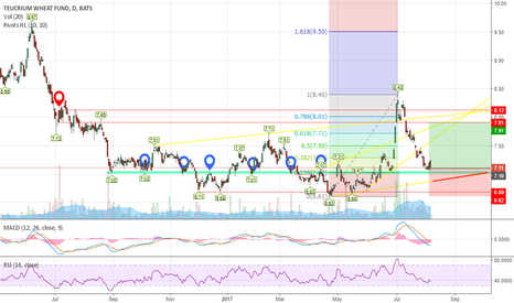 WEAT: Simplicity with Wheat - Support and resistance levels