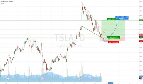 TSLA: TSLA - long on falling wedge