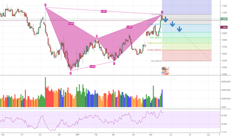 EURUSD: Bearish Bat / with Trump over reaction trade EURUSD