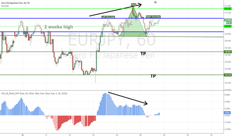 EURJPY: EURJPY potential bull trap over 2 weeks high