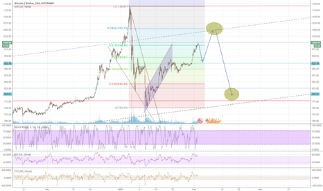 BTCUSD: Dead cat bounce, double top, or continuation of long term trend?