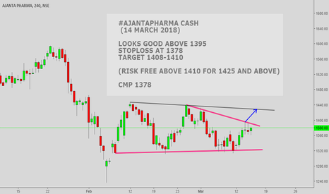 AJANTPHARM: #AJANTHAPHARMA CASH : GOOD ONLY ABOVE 1395