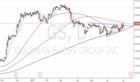 GS: Buy Goldman Sachs for 240-250