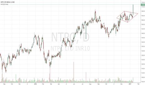 NTPC: Diamond Pattern Breakout NTPC !