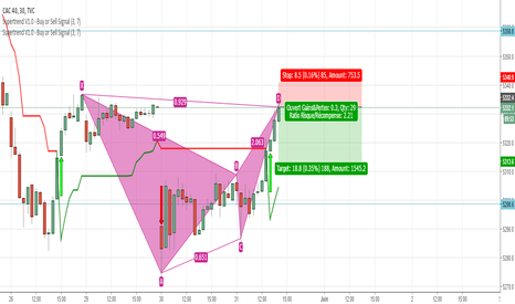 CAC40: Butterfly bear sur CAC40