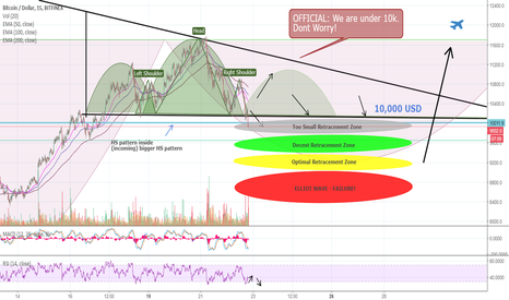 BTCUSD: OFFICIAL: BITCOIN is under 10,000 USD! How low can we go?
