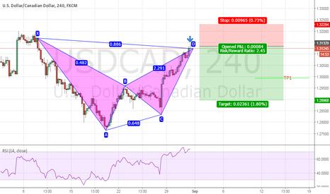 USDCAD: USD/CAD Bearish bat